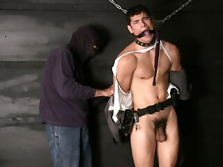 trooper, young, bound, gagged, and, stripped