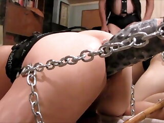 to, chained, dildo, pounding, machine, amateur