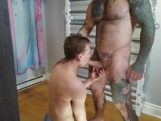 couple, hot, bareback, gay, big, cock