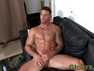 soldier, muscly, jizzing, masturbation, ,