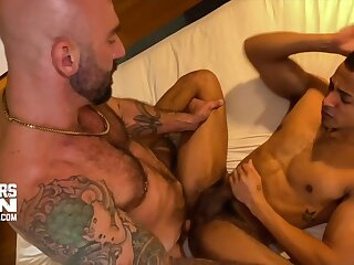 interracial, bareback, white, monster, dick, drills