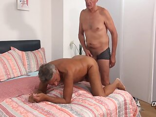 big, daddy, cock, fucks, mature, straight